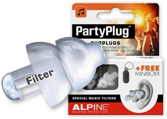 Alpine PartyPlug - Muziek Oordoppen - Transparant - SNR 19 dB - 1 paar