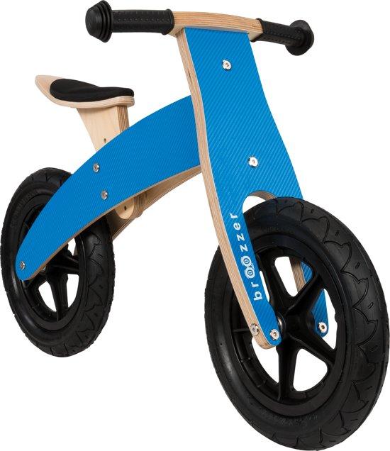 Bolcom Houten Loopfiets Blauw Met Omkeerbaar Frame Top