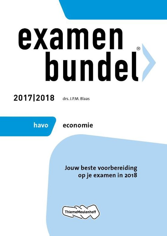 Boek cover Examenbundel havo Economie 2017/2018 van J.P.M. Blaas (Paperback)