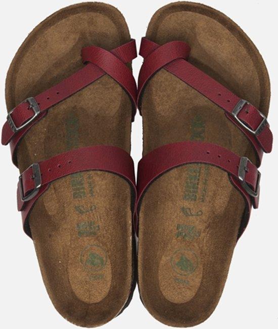 Birkenstock Mayari Slippers - Maat 41 - Vrouwen - rood/bruin