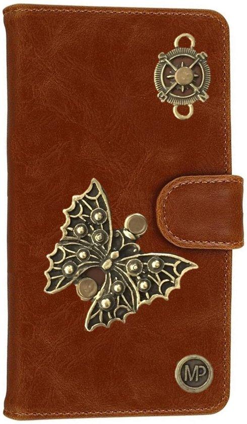 MP Case® PU Leder Mystiek design Bruin Hoesje voor Sony Xperia XZs Vlinder Figuur book case wallet case in Vance