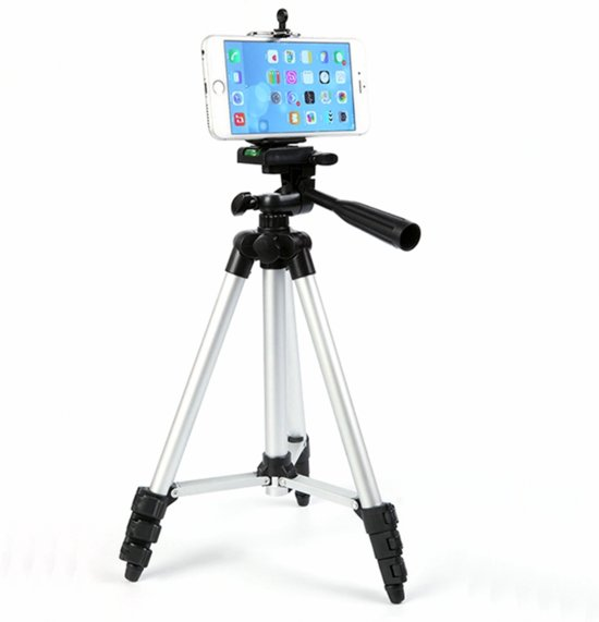 Large Smartphone / iPhone Tripod Camera Statief - Universeel Reis Statief / Travel Balhoofd Driepoot Mount