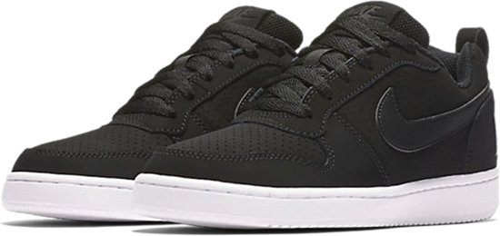 Nike Court Borough Low Sneakers Dames - Black/Black-White