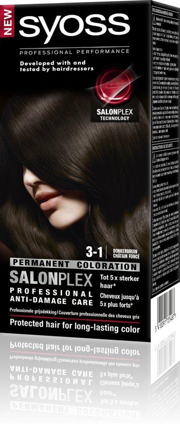 SYOSS Color baseline 3-1 Donkerbruin Haarverf - 1 stuk