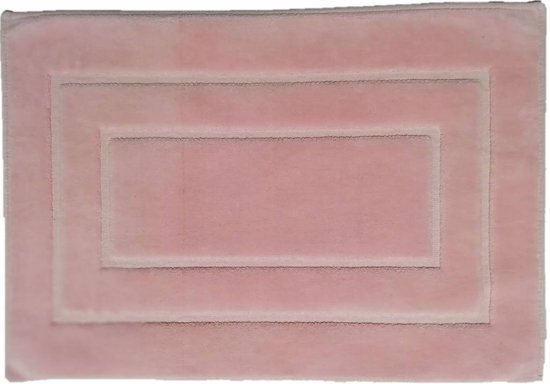 Badmat katoen roze - 50 x 80 cm