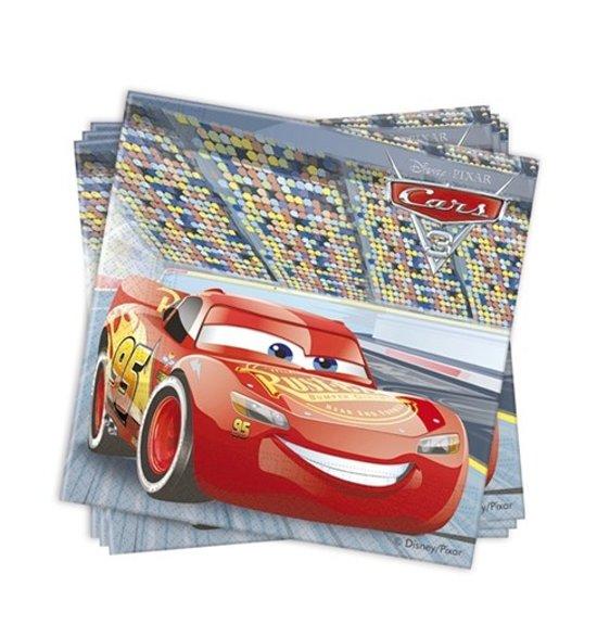 Cars 3 Papieren Servetten - 33x33 cm (20 stuks) Wegwerp 2laags Disney PIXAR