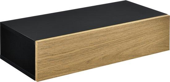 Wandplank Met Lade Zwart.Bol Com En Casa Wandplank Met Lade 50x24x12cm Zwart En