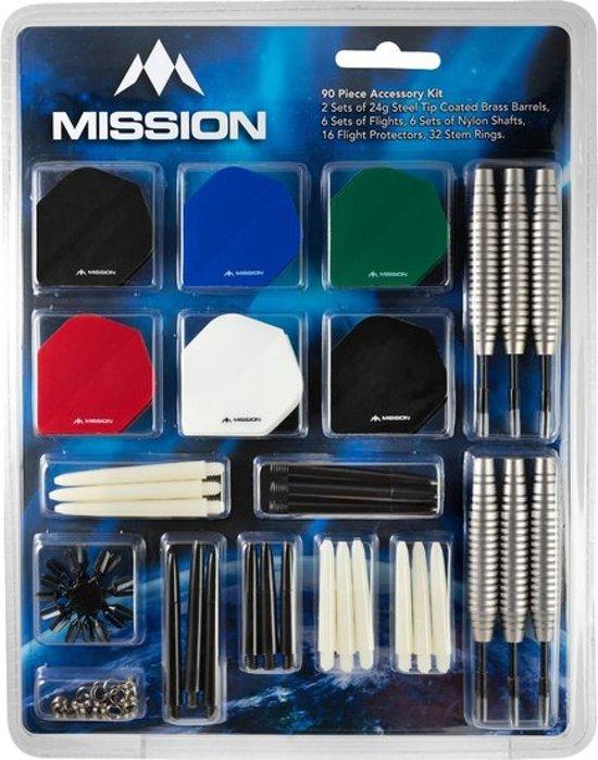 Mission Mega Darts Giftset Steeltip dartpijlen