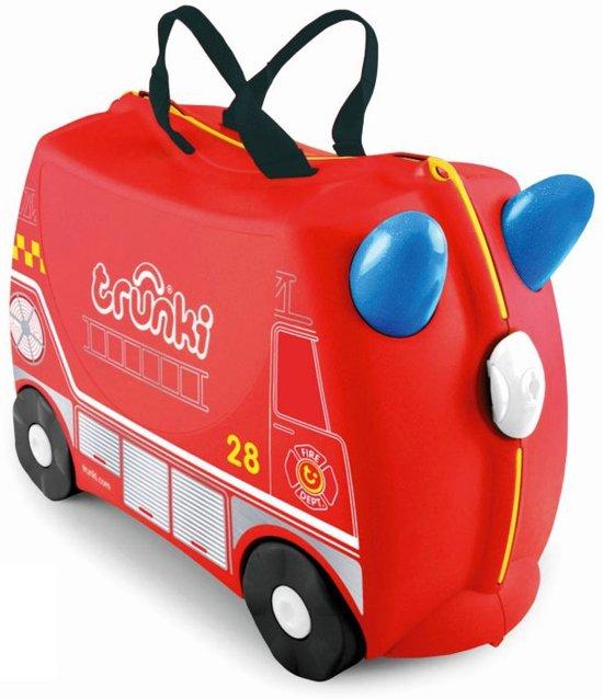 Trunki Ride-On Frank Brandweer Kinderkoffer - 46 cm - Rood (brandweer)