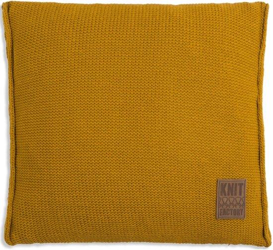 Knit Factory Uni Kussen - 50x50 cm - Oker