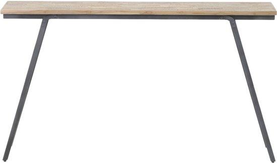 Antieke Eiken Sidetable.Light Living Sidetable Macas Table 140x30x79 Cm Verweerd Hout Antiek Grijs