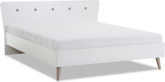Beter Bed Basic bedframe Filljet met lattenbodems en Easy Pocket matras - Tweepersoons - 140x200cm - Eiken