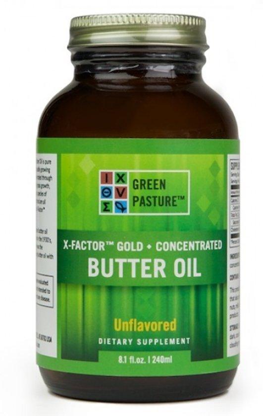 Green pasture's Green Pasture High Vitamin Boterolie - X-Factor gold - 237 ml GEL