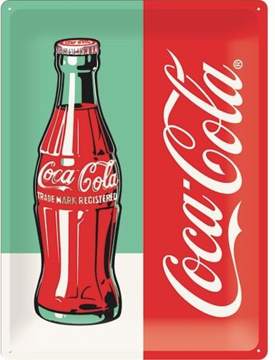 Nostalgic Art metalen bord Coca-Cola Bottle
