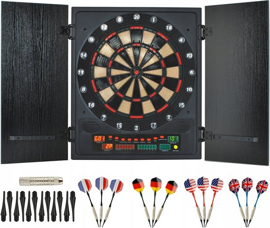 Bolcom Elektronisch Wand Dartbord Kast Set Darts Board