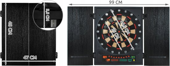 Elektronisch Wand Dartbord Kast Set Darts Board Kabinet