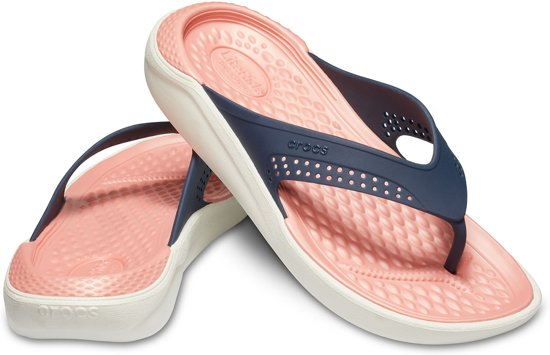 Slippers Crocs Unisex Blauw wit 38 Maat Donker roze Bd4zqf4