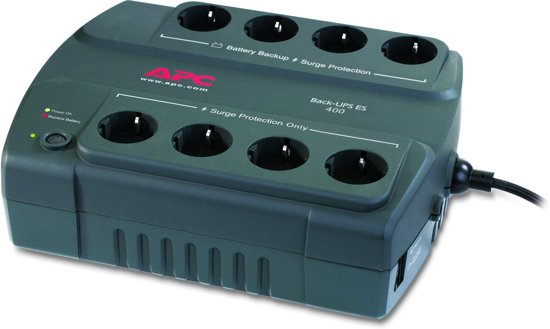 APC Back-UPS BE400-GR - Noodstroomvoeding / 8x stopcontact / 400VA
