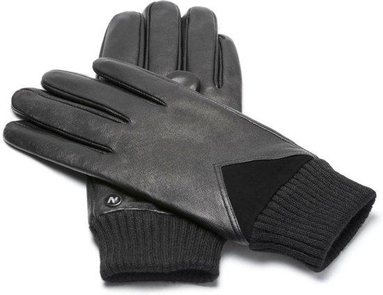 NapoSPORT Echt lederen touchscreen handschoenen Zwart maat S