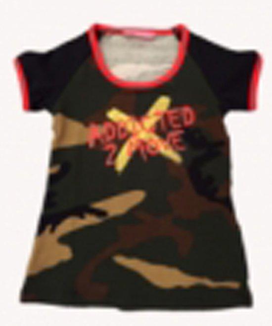 T Shirt Papillon zwart/rood Maat 116
