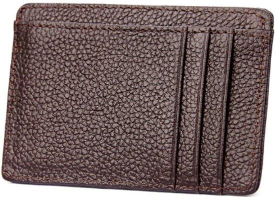 c646f61cd08 Portemonnee RFID - Creditcardhouder - Pasjeshouder - Leer - Met  geschenkdoos - Donkerbruin