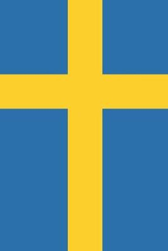 Sweden Travel Journal - Sweden Flag Notebook - Swedish Flag Book: Unruled Blank Journey Diary, 110 page, Lined, 6x9 (15.2 x 22.9 cm)