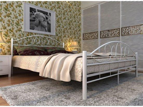 Bed Met Matras : Bol vidaxl metalen bed met matras cm wit