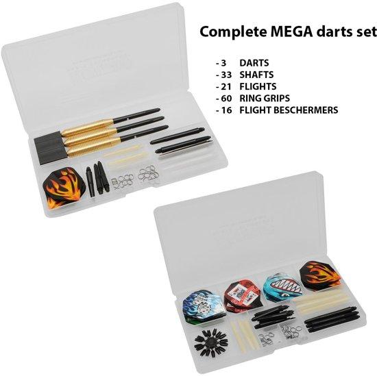 Dragon - MEGA DARTS SET - Complete Steeltip Giftset - dartpijlen - giftset - 135 PCS!
