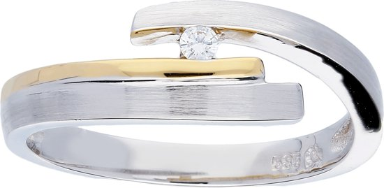 Glow - Gouden ring met steen 1-0.03ct - G/SI