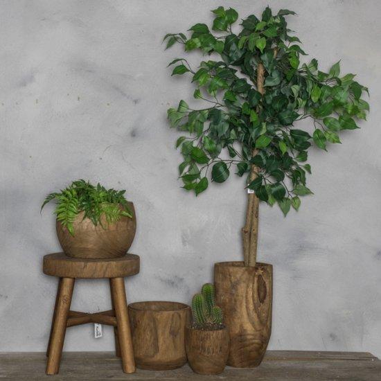 Houten kruk naturel 31x35.5cm