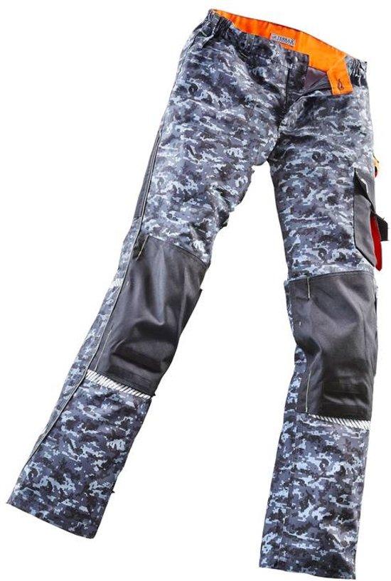 TERRAX WORKWEAR Werkbroek grijs/zwart camouflage maat 54