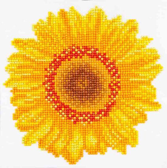 Needle Art Happy Day Sunflower Diamond Painting 20x20 cm