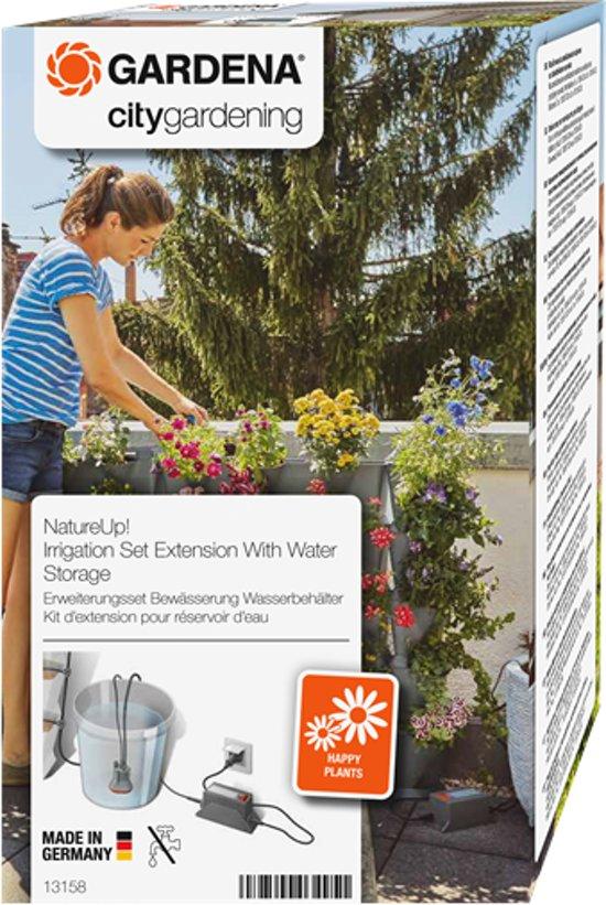 GARDENA NatureUp! Uitbreidingsset Bewatering Waterreservoir - bewatert plantenbakken zonder wateraansluiting