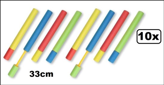 10x Watershooter foam 33cm assortie
