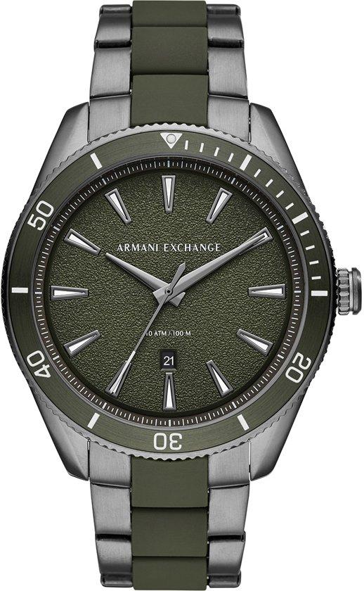 Armani Exchange Enzo horloge  - Grijs,Groen