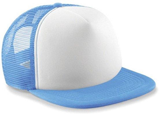 Vintage kinder baseball cap  Licht blauw/wit