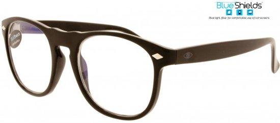 6597723e13648f Icon Eyewear NFB002 +2.50 Luciano BlueShields Leesbril - Blauw licht filter  lens - Glanzend zwart