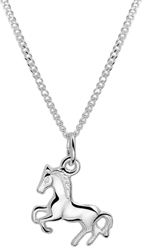 The Jewelry Collection Ketting  Paard - Meisjes - Zilver - 40 cm
