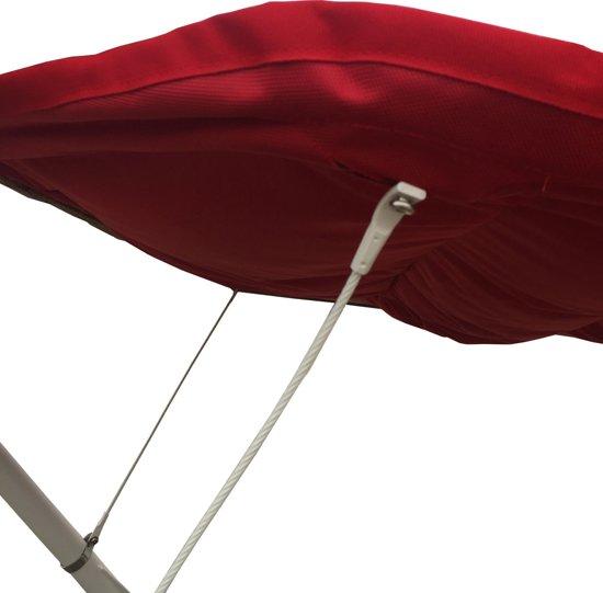 Hangmat / Ligbed met Zonnescherm | SORARA | Rood | 2 personen / 2 persoons | Hoogwaardige Kwaliteit (UV 50+)| Red Dot Design Award-product