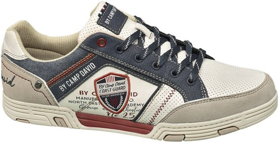 2864ebdcc3a Venture by Camp David Heren Off-white sneaker vetersluiting - Maat 40
