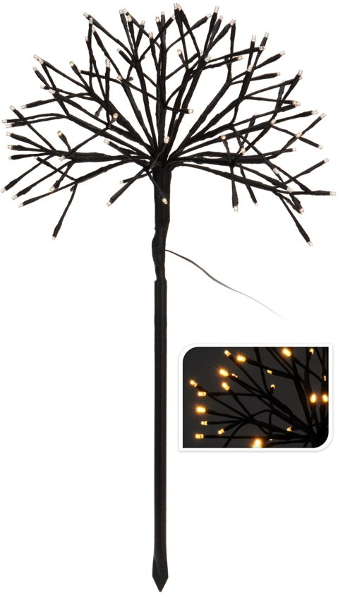 boom met led verlichting voor binnen en buiten kerst 96 leds zwart