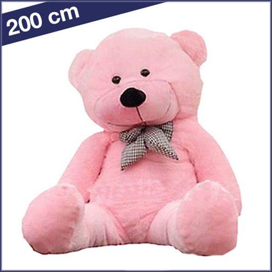 Grote Knuffelbeer 2 Meter.Grote Roze Knuffelbeer Van 2 Meter