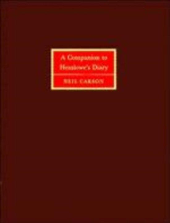 A Companion to Henslowe's Diary
