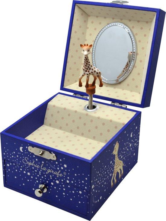 Afbeelding van Sophie de giraf vierkant muziekdoosje - Stars (glow in the dark) speelgoed