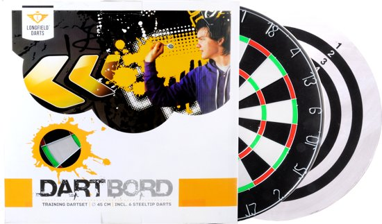 Longfield Dartbord + Dartpijlen