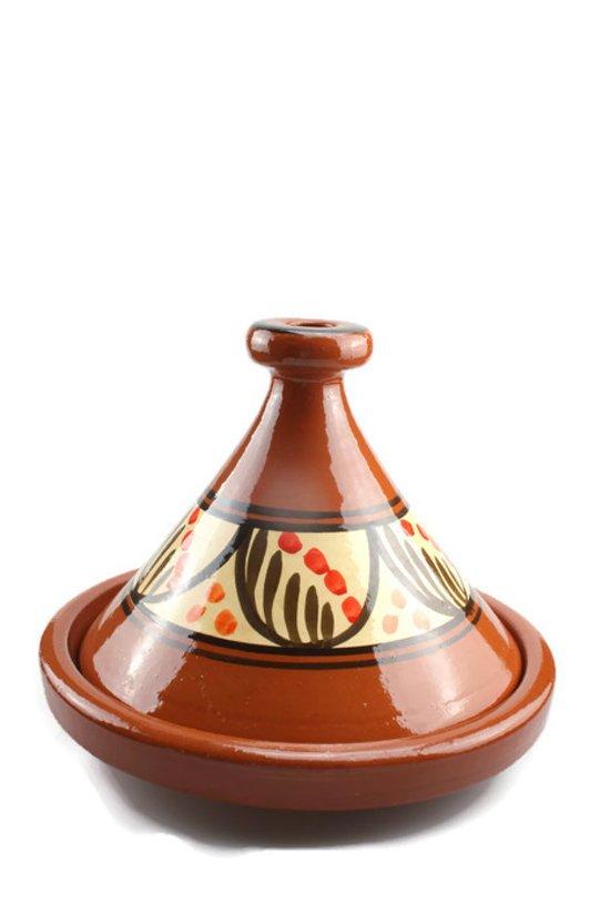 Marokkaanse tajine 3/4 persoons H 20 cm Ø 27 cm Zagora