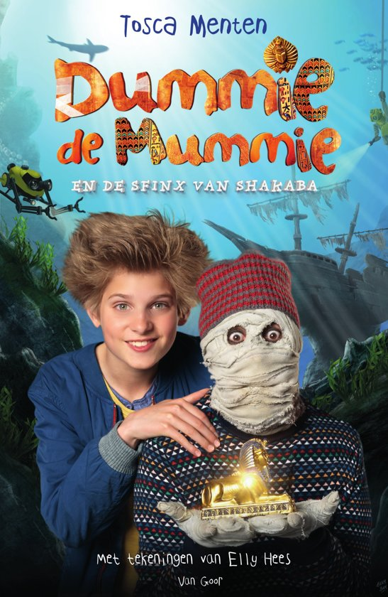 Boekomslag voor Dummie de mummie 3 - Dummie de mummie en de sfinx van Shakaba
