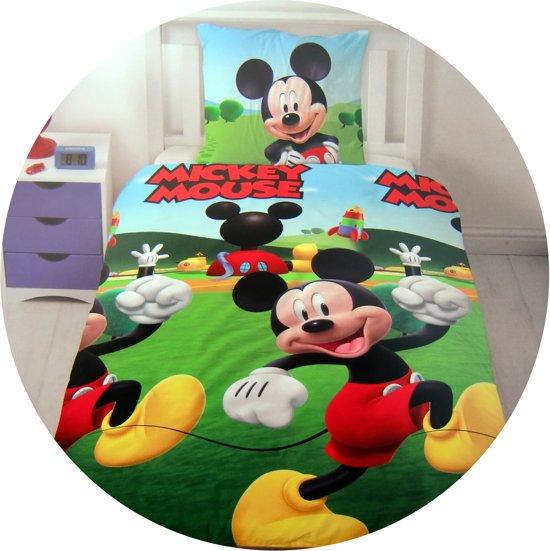 bol.com | Dekbedovertrek - Disney Mickey Mouse - eenpersoons - 140 x 200