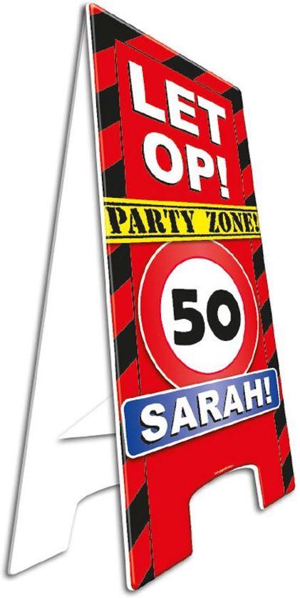 Waarschuwingsbord 50 Sarah (afm: 57 x 25cm)