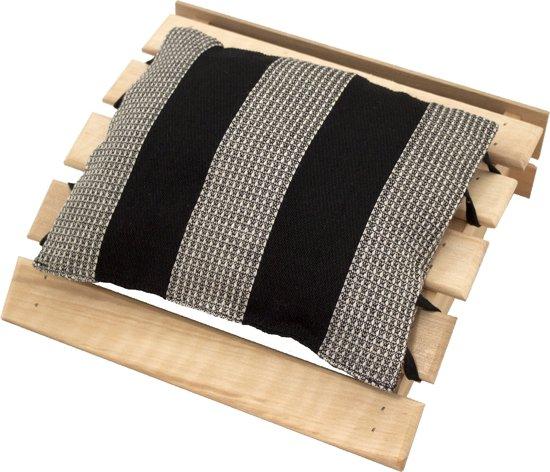 9ed39756c3e bol.com | Emendo - Sauna hoofdsteun met kussentje - zwart, 25x24 cm